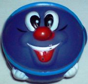 Blue Smiley Ball